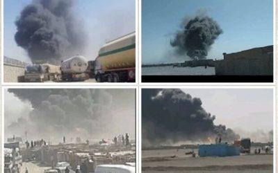 آتش سوزی ۳ مخزن سوخت در مرز ایران و افغانستان