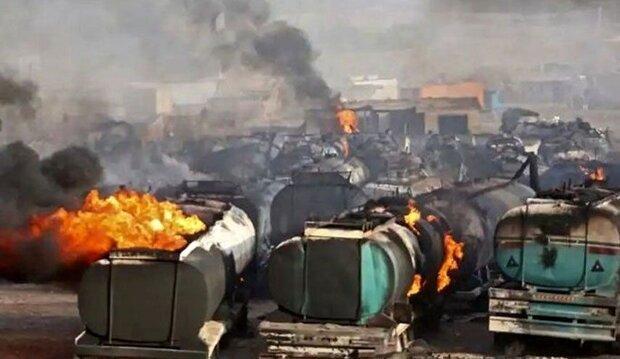 آتش سوزی تانکر نفتی در مرز ایران و افغانستان مهار شد
