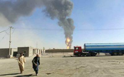 انفجار در مرز اسلام قلعه افغانستان آتشی عظیم به پا کرده است